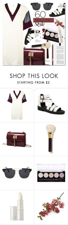"""""""60 second Style"""" by arohii ❤ liked on Polyvore featuring Lanvin, Tom Ford, L.A. Colors, Lipstick Queen, Crate and Barrel, Charlotte Tilbury, polyvorecommunity, tshirtdresses and 60secondstyle"""