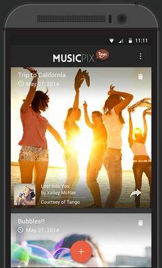 Vuelven a lanzar Tango Music Mix, creada por los desarrolladores de la aplicación de mensajería y Vídeo llamadas, Tango.  Esta app permite crear hermosas presentaciones de 30segundos con imágenes y música, para compartir a través de Tango, Facebook, Twitter y email.
