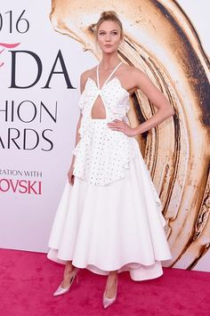 #Share #this #Style: #Best of #CFDA #Awards #2016 | #CouncilofFashionDesignersofAmericaAwards #outfit #vogue #KarlieKloss #RosieAssoulin #dress #white