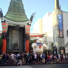 The day after the huge star-studded Ghostbusters red carpet premiere at Grauman's Chinese Theater in Hollywood.