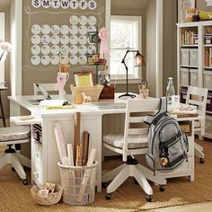 This is a great space for a home office...and turns into a homework spot when the kids arrive home from school. Good use of space!