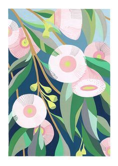 Claire Ishino - Limited Edition Art Print - 'In the Backyard' Gravure Illustration, Illustration Blume, Pattern Illustration, Illustration Flower, Pattern Floral, Motif Floral, Arte Floral, Graphisches Design, Pattern Design