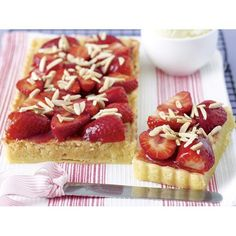 Strawberry and almond tart recipe. #French  #Tart #Dessert #Pastry