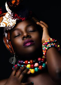 Colourful handmade African beads jewelry and necklaces inspired by Nigerian wedding yellow necklace, bridal coral jewelry Kenya Maasai choker African Beads, African Jewelry, Black Women Art, Beautiful Black Women, African Women, African Fashion, Art Visage, African Head Wraps, Black Girl Magic