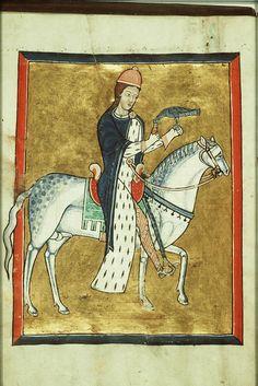 Bias hose from c. 1200-1210 Fécamp Psalter - Normandy -