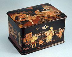 Fine Antique Japanese Black Lacquer Tea Caddy.c.1870