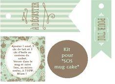 Papilles On/Off: Kit SOS Mug cake, cadeau gourmand, étiquettes à imprimer