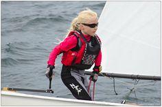 Zhik Superwarm Junior-Baltic lifejacket-Alberte Møller Rehné sejler på B banen i Fåborg, blev nr. 2 ud af 31 sejler