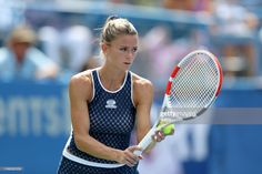 Camila Giorgi of Italy serves to Jessica Pegula of the United States during the women's singles final of the Citi Open at Rock Creek Tennis Center on August 2019 in Washington, DC. Get premium, high resolution news photos at Getty Images Camila Giorgi, Tennis Center, Muscle Anatomy, Tennis Racket, United States, Italy, Sports, Camilla, Italia