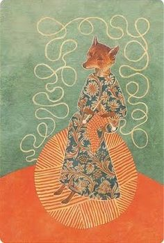 Fox knitting.