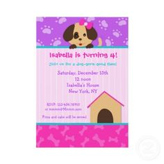 How cute!!!!! Puppy Dog Birthday Party Invitations by LittleSeiraStudio