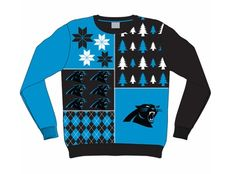 Ugly NFL Christmas Sweater Wars   Forever Collectibles   SportsGrid Carolina Panthers version $59