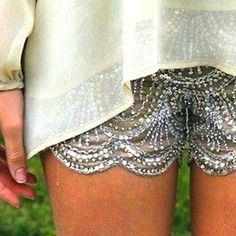 fancy scalloped shorts.