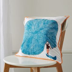Safomasi - White Catch of the Day cushion