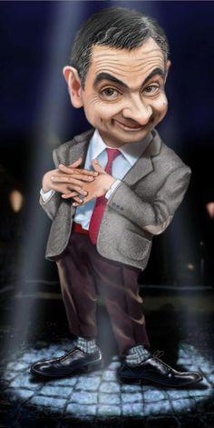 Do what you want to do - Karikatur - Caricature Funny Face Drawings, Funny Faces, Funny Caricatures, Celebrity Caricatures, Cute Cartoon Pictures, Funny Photos, Cartoon Art, Cartoon Characters, Mr. Bean
