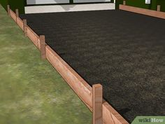 How to Build a Concrete Driveway (with Pictures) - wikiHow Diy Concrete Driveway, Diy Driveway, Driveway Design, Concrete Driveways, Driveway Landscaping, Concrete Projects, Diy Projects, Decks And Porches, Patio Roof