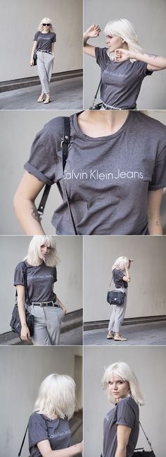 Calvin Klein T-Shirt And Wool Trousers Scandinavian Style, Daily Fashion, Celine, Calvin Klein, Trousers, Loafers, Wool, Jeans, T Shirt