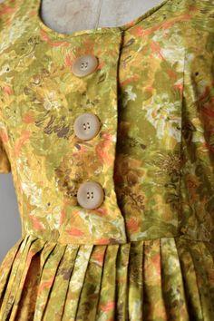 S A L E  60s dress / vintage 1960s dress / Shot Gold by DearGolden, $45.00