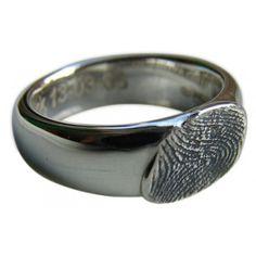 Zilveren ring met vingerafdruk van KunstGoud