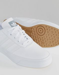 Image 3 of adidas Originals Adi-Ease Leather Sneakers In White D69229