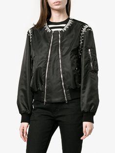 Rhinestone Embellished Bomber Jacket
