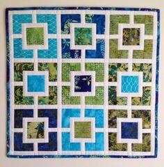 Keizer Quilts: Garden Lattice Mini Quilt