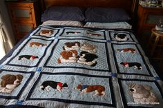 I would love to have a Border Collie quilt like this!