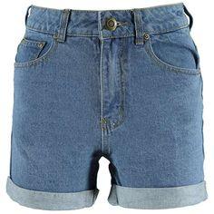 Boohoo Hetty Roll Up Hem Vintage Mom Shorts ($30) ❤ liked on Polyvore