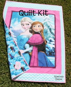 This listing is for a Frozen Quilt Kit featuring Disneys Frozen fabric by Spectrix. Quilt will measure approximately 41 x 54. There is a simple