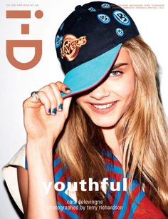"""Three Girls – Models Charlotte Free, Cara Delevingne and Kelly Mittendorf cover the """"Youthful"""" issue of i-D Magazine. The trio poses for Terry Richardson's lens with various props including a stuffed animal and even pizza. Terry Richardson, Azzedine Alaia, Poppy Delevingne, Rachel Green, Illuminati, Cara Delevingne Magazine Covers, Vanity Fair, Celine, Karl Lagerfeld"""