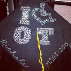 Occupational Therapy OT Rhinestone Graduation Cap
