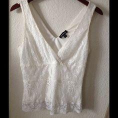 Lace tank top Cream lace. Small medium bebe Tops