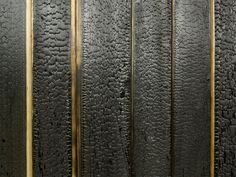 Architectural Materials // Amazing texture with this charred larch facing and gold accent wall pattern at the Black Teahouse by A1Architects. » CONTEMPORIST