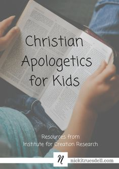 How do I teach Christian apologetics to my kids? How do I find great books and resources to help them understand the Biblical worldview? Christian Children's Books, Christian Kids, Bible Study Plans, Bible Study For Kids, Devotions For Kids, Learn The Bible, Christian Apologetics, School Songs, Bible Teachings