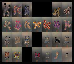 Clever art: #Chromosome #Socks Karyotype, Dept Genetics, Guy's Hospital by GinaGl0ver
