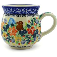 Polish Pottery 16 oz Bubble Mug   Boleslawiec Stoneware   Polmedia H5812E