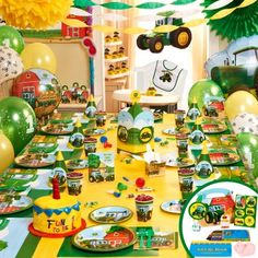 Johnny+Tractor+1st+Birthday+Ultimate+Party+Pack+&+Favors+for+8