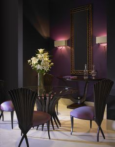 #Romantic, #elegant and classy #furniture from the one and only #ChristopherGuy. #purple #design