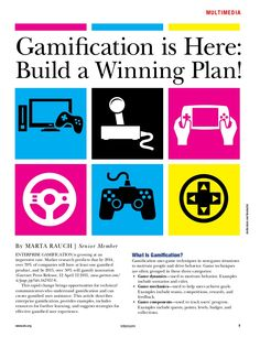 Gamification is Here: Build a Winning Plan, by Marta Rauch. Handout for my gamification presentation at Intelligent Content 2013 via Slideshare