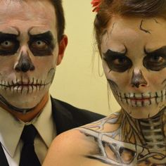 instructable how-to - Skeleton Halloween Makeup