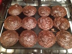Chocolate and Walnut Protein Muffins - (High Protein, Low Carb, Low Fat) - Chocolate Protein Powder, Greek yogurt, egg whites, rolled oats, vanilla extract, baking powder, baking soda, cocoa powder, crushed walnuts, dark chocolate chips.