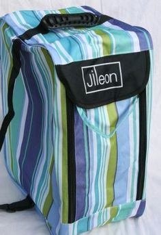 Blue Stripe Premium Rain Boot Bag by Jileon. $19.99. This is one of our new range of premium Rain Boot Bags, which make an ideal gift. Our premium bags are made from extra durable 600x300d polyester material, which can be wiped clean and is water resistant, inside and out. They have a rubber grip on top, plus a shoulder strap, and also come with a mesh pocket on the back which is ideal for carrying water bottles at festivals. The double zip at the front makes it easy to open th...