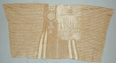 British Museum # 2008,2025.31. Wild silk and white cotton, early C20th, Nupe or Yoruba manufacture. Heathcote Collection.