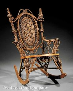 Heywood Wakefield Wicker Rocking Chair
