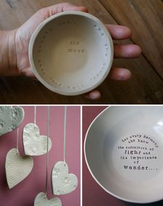 Ceramic works in progress by Kylie of Paper Boat Press