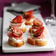 Balsamic Strawberry & Parma Ham Crostinis Recipe - Easy Recipes