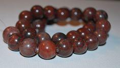 'Chinese Writing Stone Round Beads- 16 in strand' #rexanasbeads #bidontophatter