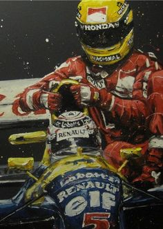 Ayrton Senna by Paul Oz