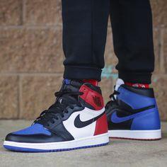 """Air Jordan 1 """"Top Three"""" Air Jordan Sneakers, Jordans Sneakers, Air Jordans, Supreme Shoes, Sneaker Games, Men S Shoes, Jordan 1, Designer Shoes, Freedom Party"""