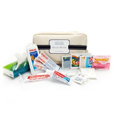 Rescue Me Kit: Whether you use it for your wedding day emergency kit or as a welcome gift/ hangover helper kit for your guests, this handy case contains all the essentials and last minute lifesavers.   The Rescue Me Kit contains:  * Toothbrush  * Toothpaste  * Advil  * Pepto-Bismol  * Anti-bacterial wipe  * Nail polish remover  * Shout stain wipe  * Band-Aids  * Tissues  * Sewing Kit  $10.00 Wedding Welcome Baskets, Wedding Welcome Gifts, Unique Wedding Gifts, Wedding Tips, Wedding Day, Wedding Stuff, Yellow Wedding, Wedding Bells, Wedding Favors